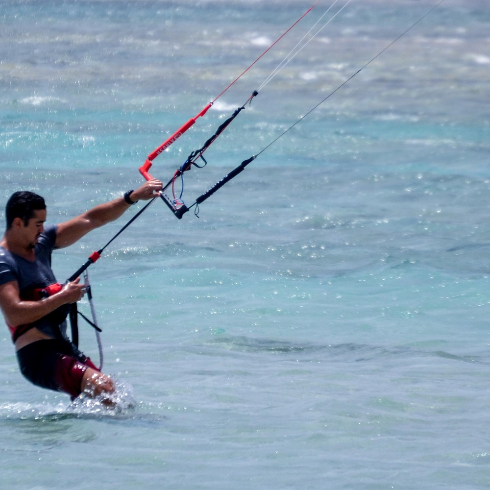 Kitesurfing kite close