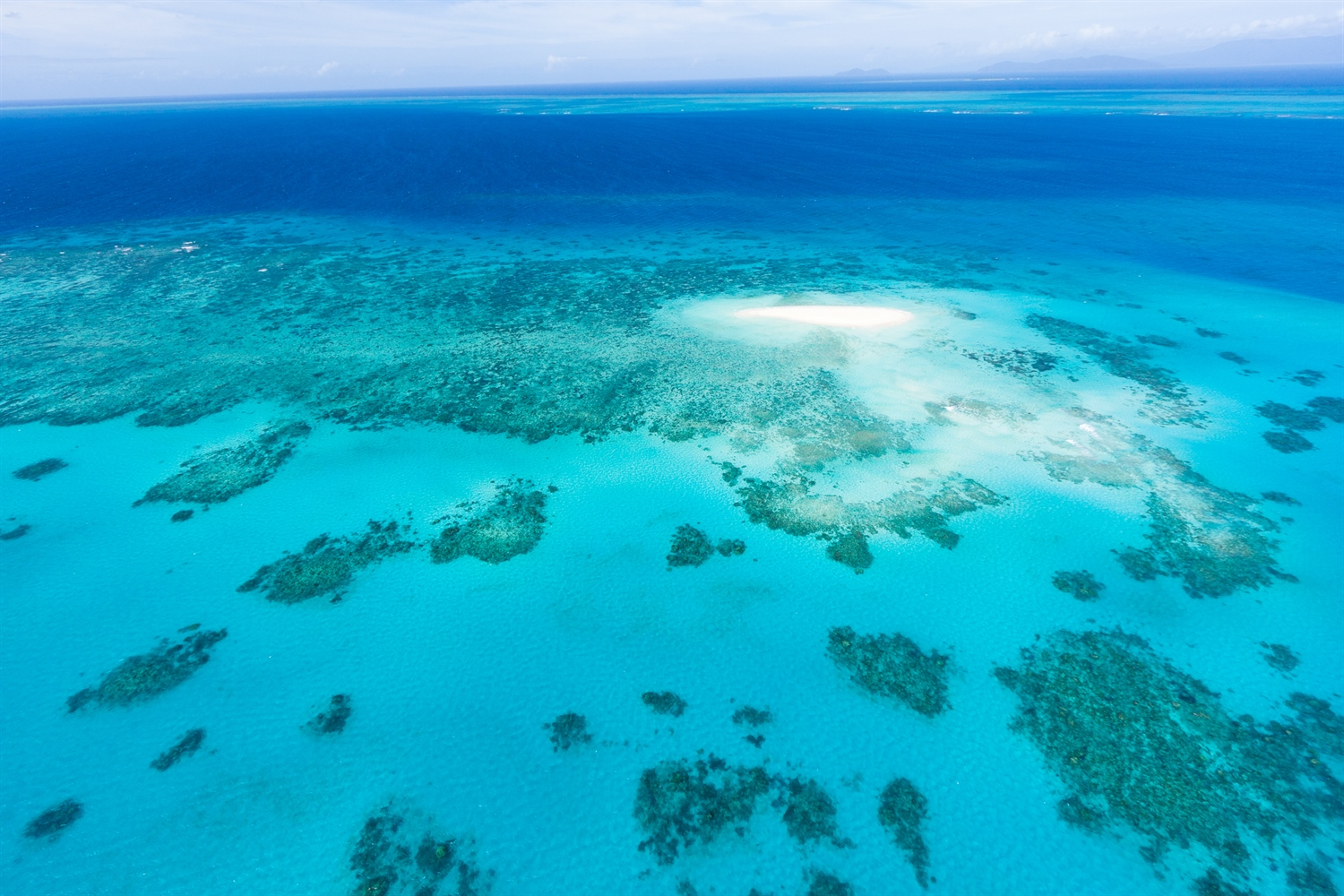 Arial View of Barrier Reef