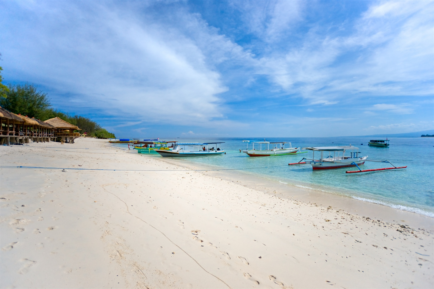 Gili Island white sandy beach