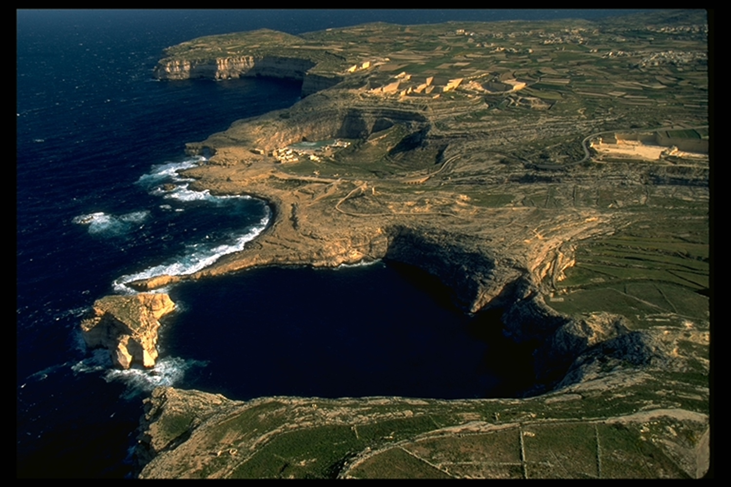 Aeruial view of Gozo