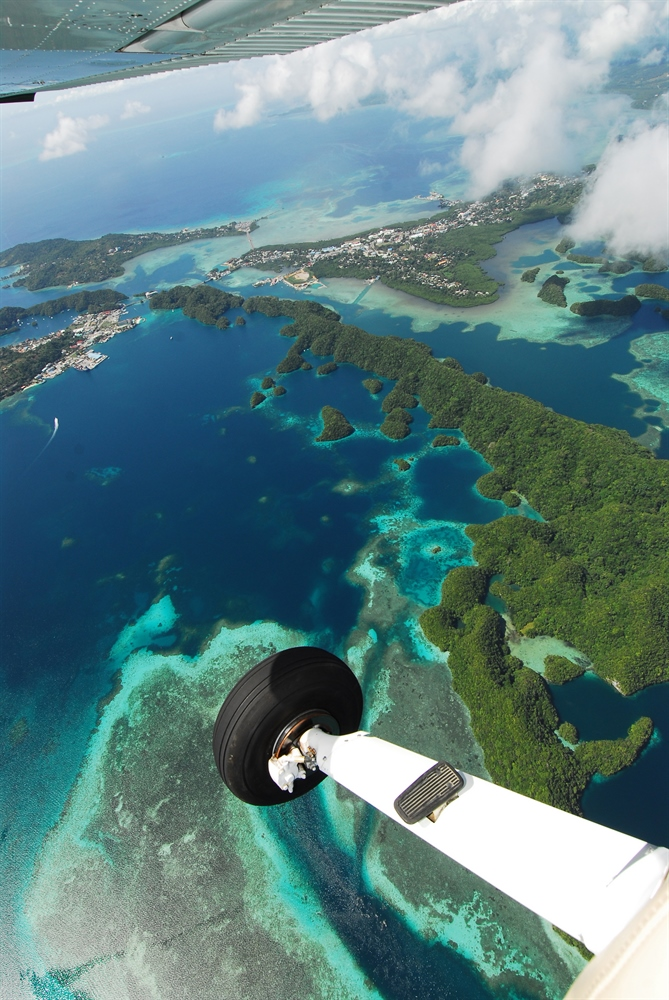 Micronesia Islands Over Light Aircraft