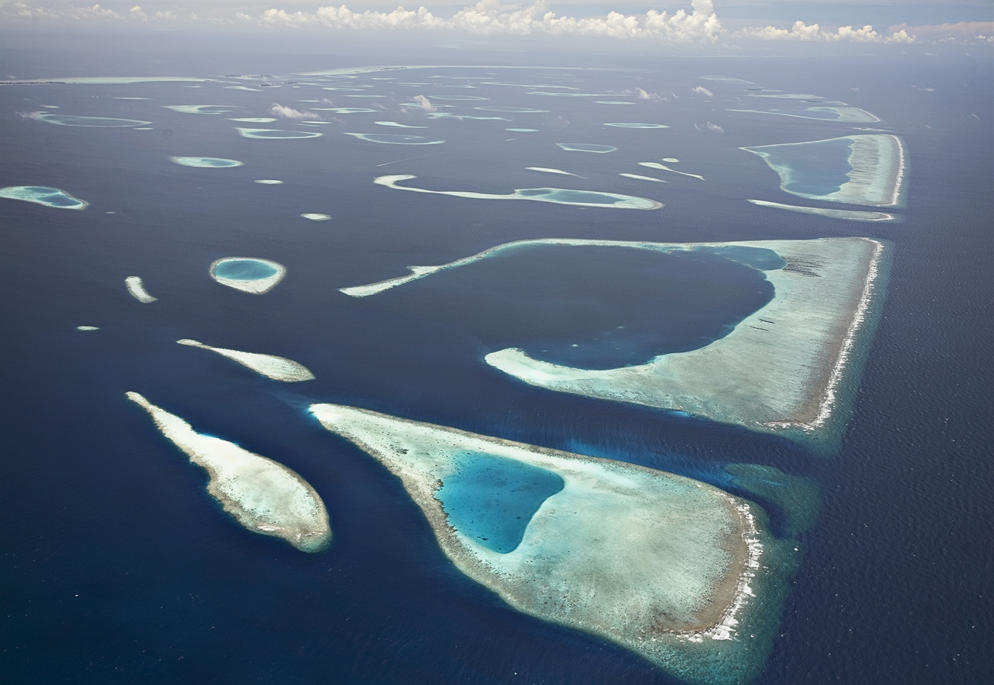 Aerial view of reef