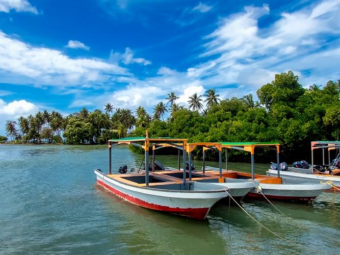 Boats on Truk Lagoon