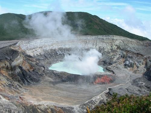 Poás Volcano Top View