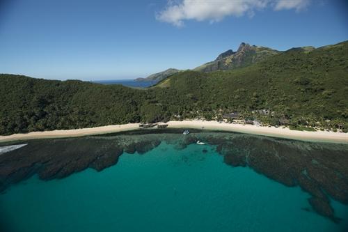 Aerial View Island & Reef