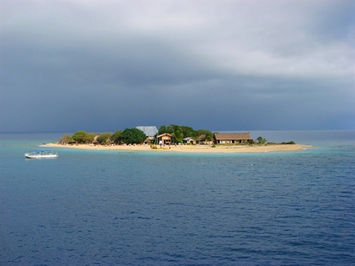 Island view from boat