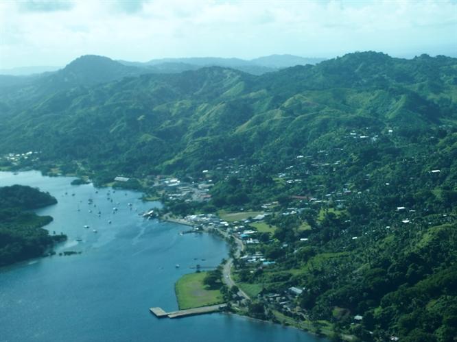 Aerial View of Savusavu Island