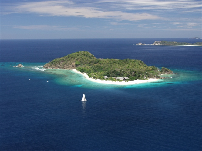 Aerial view of Tubbataha
