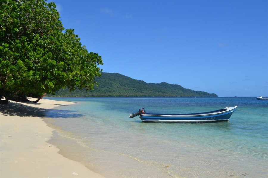 One of the most beautiful places on earth, Qamea Beach in Fiji.