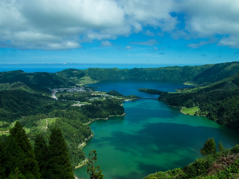 """Being the land of crater lakes, Sao Miguel has places like """"Sete Cidades Lake"""" steeped in myth and legend on the west side of the island. Breathless!"""
