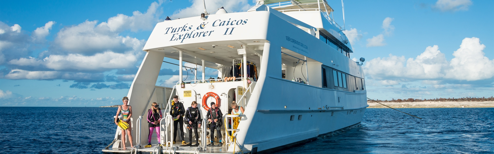 Turks and Caicos Explorer II stern