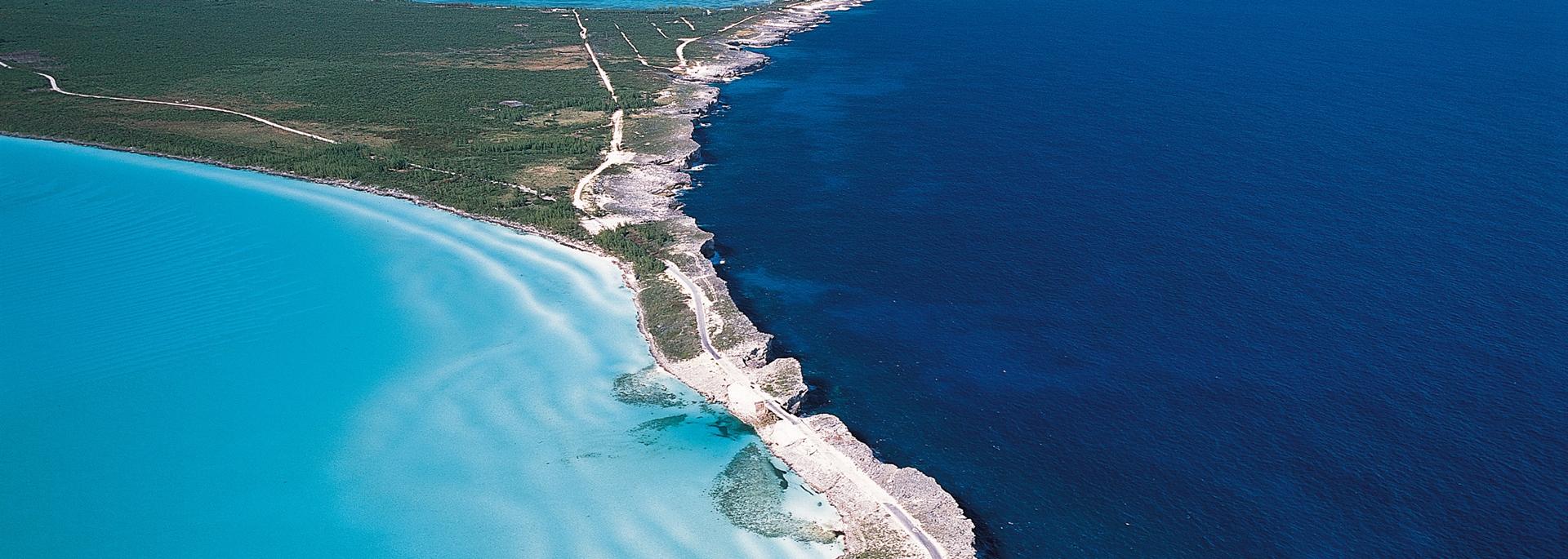 Arrial View of Island & Ocean