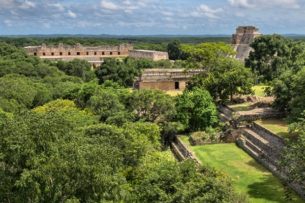Arrial view of Palenque