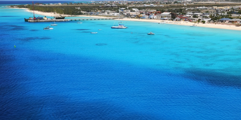 Arrial view of Turk & Caicos