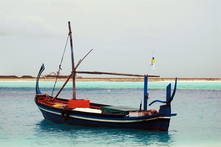 Maldives local boat