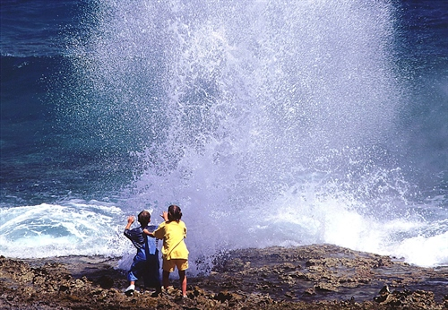 Blow Hole In Ground