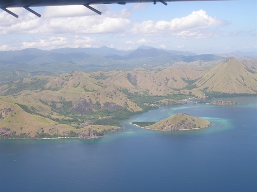 Arial View of Komodo