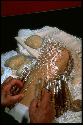 Lace-maker at work