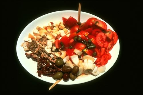 Plate with Food