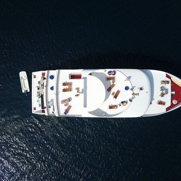 Serenity Boat Aerial View