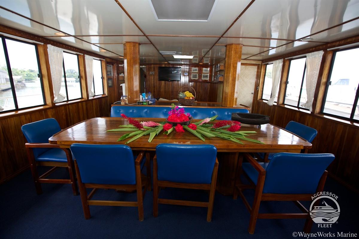 Fiji Aggressor Dining Area