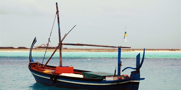 Maldives local boat