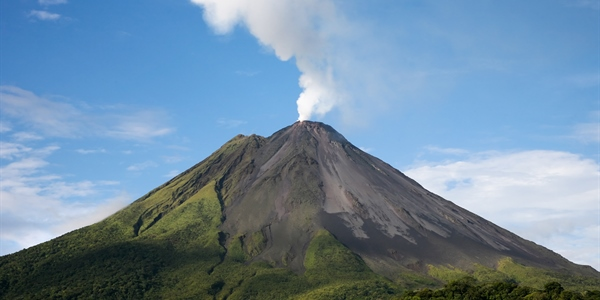 Poás Volcano Side View
