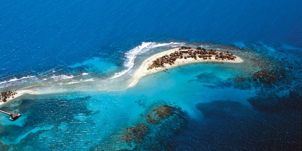Arial View of little island