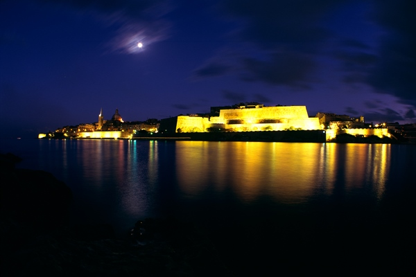 Port at night