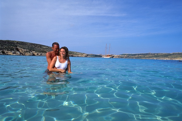 Couple on Blue Lagoon