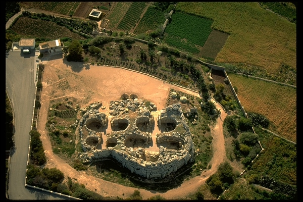 Aerial view of Xaghra Stone Circle