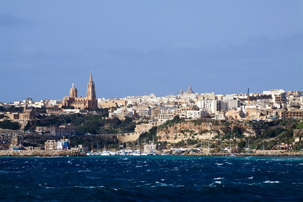 Gozo view from Boat