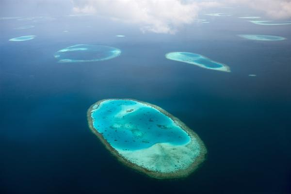 Aerial view of reef
