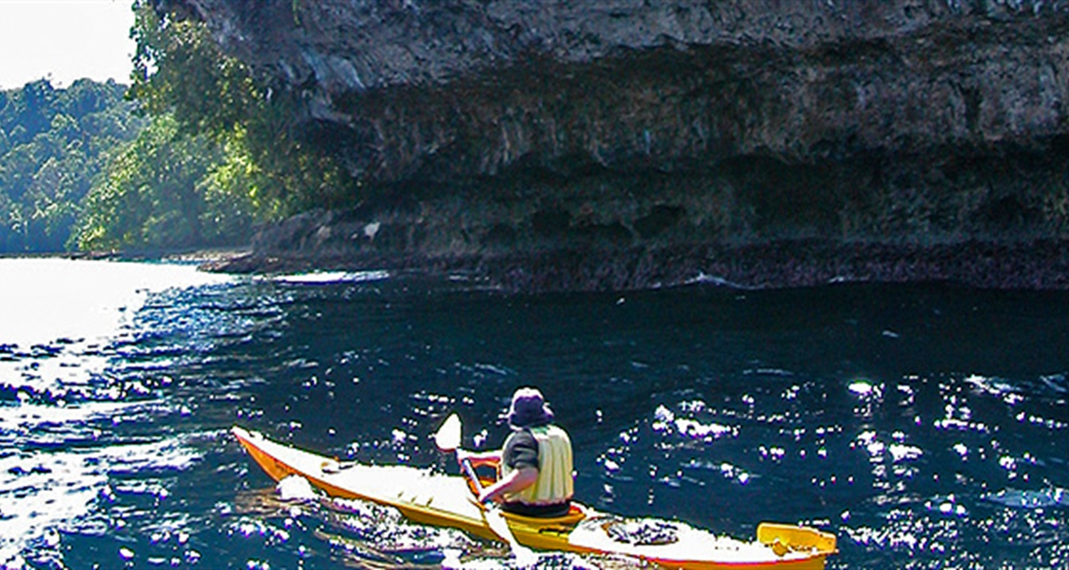 Sea Kayaking At Uepi